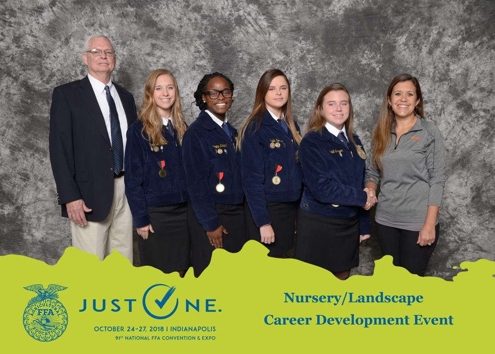 National FFA nursery landscape team picture